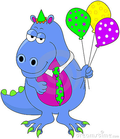 Birthday Dinosaur Royalty Free Stock Photo Image 6920505