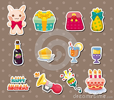 Birthday element stickers