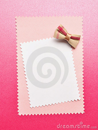 Birthday gift card with bow
