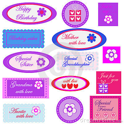 Birthday gift labels / tags