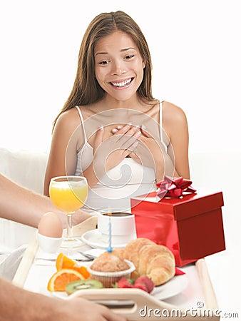 Birthday gift surprise woman
