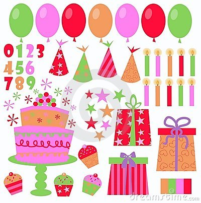 Free Birthday Icons Royalty Free Stock Photo - 15604825