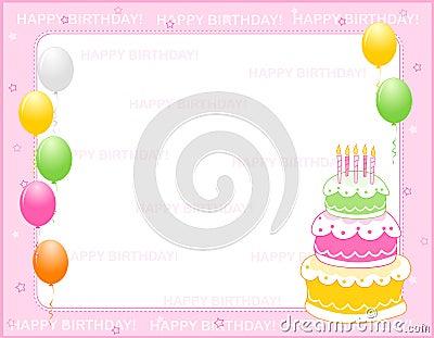 Vector Illustration: Birthday invitation card. Image: 1