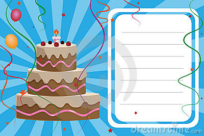 Birthday invitation card - boy
