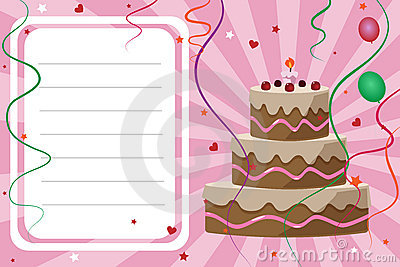 Birthday invitation card - girl