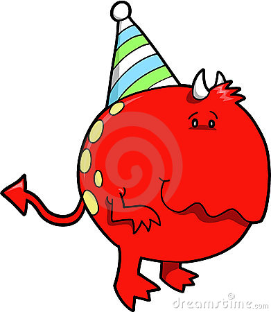 Birthday Monster Devil Royalty Free Stock Images