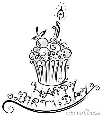 Birthday, muffin, cupcake