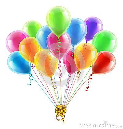 Birthday Or Party Balloons And Bow Stock Vector Image