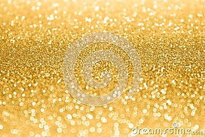 Gold Glitter Sparkle Confetti Background Stock Photo