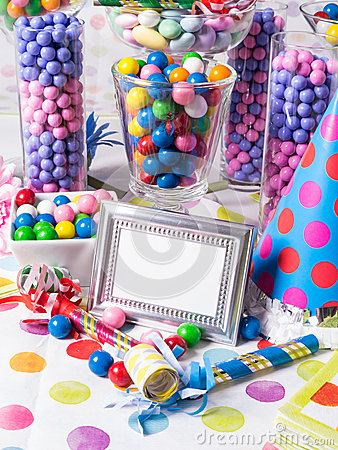 Birthday Party Candy Station Buffet Table
