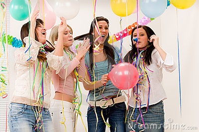 Birthday party celebration - four woman
