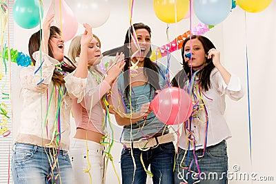 Birthday party celebration - four woman