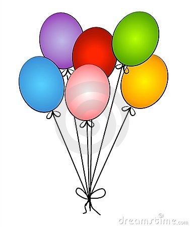 Free vector Vector clip art Party Helium Balloons clip art