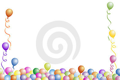 Birthday Party Frame Royalty Free Stock Photo Image 1572955