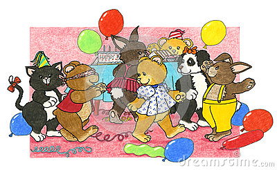 birthday party games stock images image 28469954