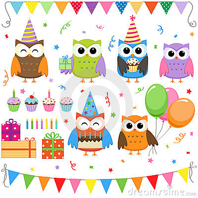 Free Birthday Party Owls Stock Photo - 20575540