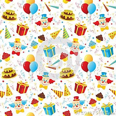 Free Birthday Party Seamless Pattern Stock Photo - 15669990