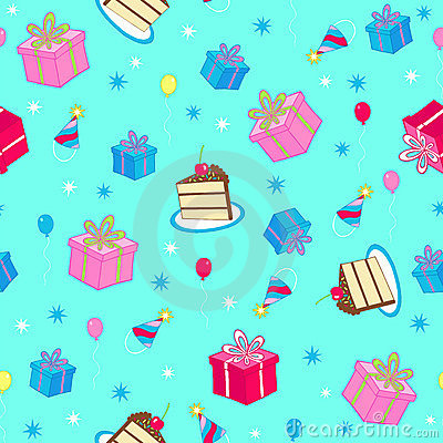 Free Birthday Party Seamless Repeat Pattern Vector Stock Image - 6857131