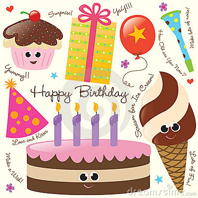 Free Birthday Party Set Royalty Free Stock Photography - 8969757