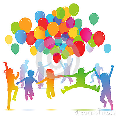 Free Birthday Party With Balloons Stock Photo - 40339600