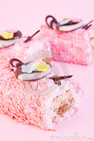 Birthday  pink cakes