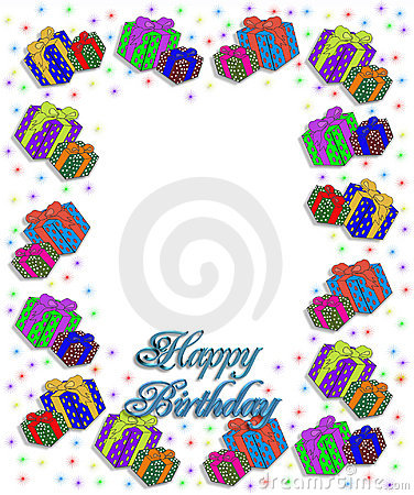Birthday Presents Border Illustration Stock Photos - Image ...