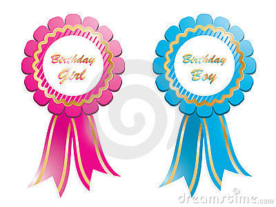 Birthday rosettes