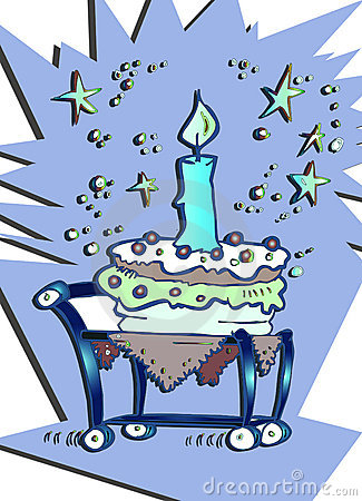Happy Birthday Candle Cake Cartoon