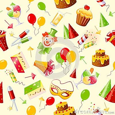 Free Birthday Seamless Background Stock Image - 14123951