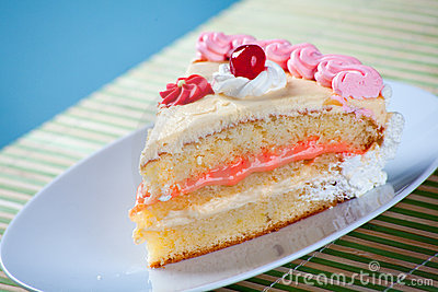Birthday Strawberry and Cream Cake