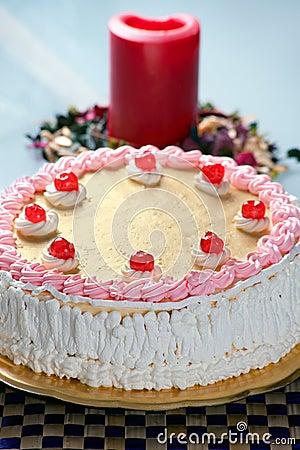 Birthday Strawberry and Cream Cake