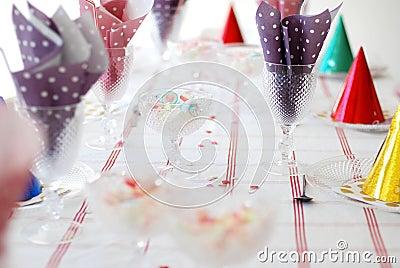 Birthday table.