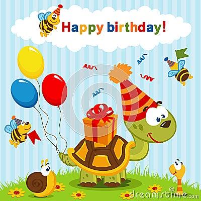 Free Birthday Turtle Stock Photos - 34122763