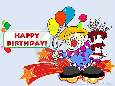 Birthday vector postcard