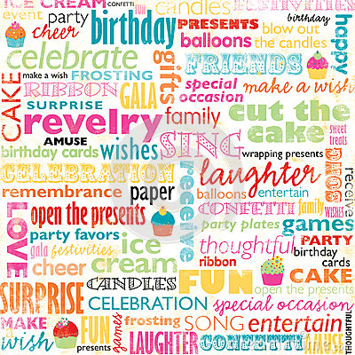 Birthday Word Collage Royalty Free Stock Image - Image: 29693586