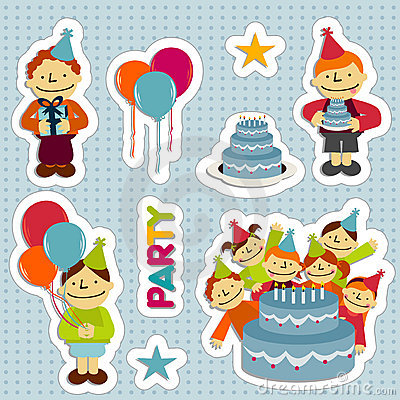 Free BirthdayStickers Stock Image - 8118431