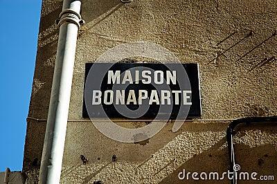The birthplace of Napoleon Bonaparte