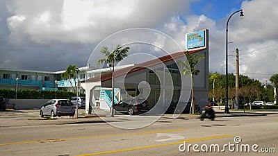 Biscayne Inn Miami FL Motel stock videobeelden