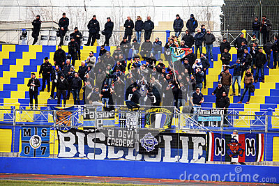 Bisceglie supporters Editorial Stock Image
