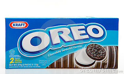 Biscoitos do chocolate de Oreo Imagem Editorial
