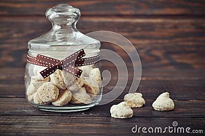 Biscotti in a glass jar