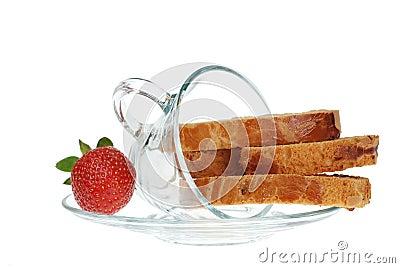 Biscotti and Strawberry