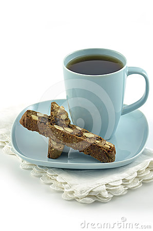Biscotti and tea