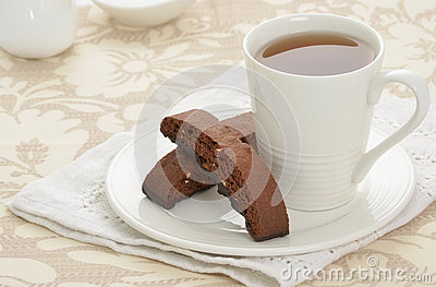 Biscotti with tea