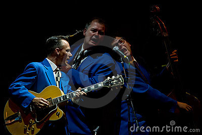 The Biscuit Boys on stage at Umbria Jazz Festival Editorial Stock Photo
