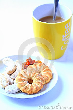 Biscuit and coffe