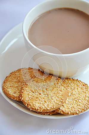 Biscuit with coffee