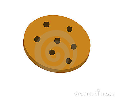Biscuit de puces de chocolat