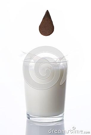 Biscuit and milk