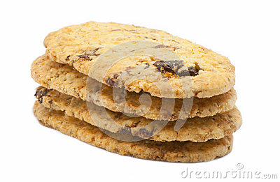 Biscuit with raisins